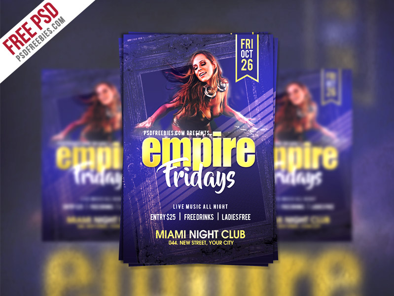 Template per Flyer in PSD da Scaricare Gratis - Friday Party