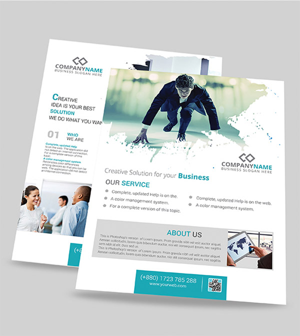 Template per Flyer in PSD da Scaricare Gratis - Modern Corporate