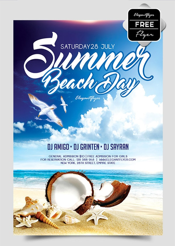 Template per Flyer in PSD da Scaricare Gratis - Summer Beach