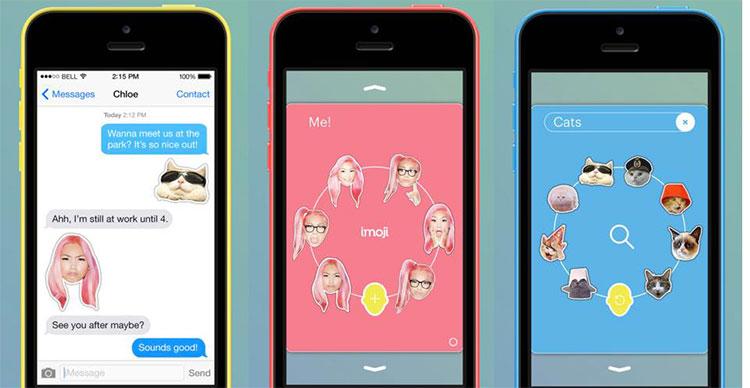 App per trasformare i selfie in emojis, adesivi e musica