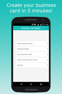 Schermata dell'app Business Card Maker per Android