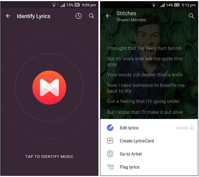 6 App per il Riconoscimento Musica Simili a Shazam per Android e iOS - Musicxmatch