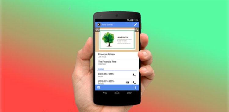 App Android per scannerizzare biglietti da visita