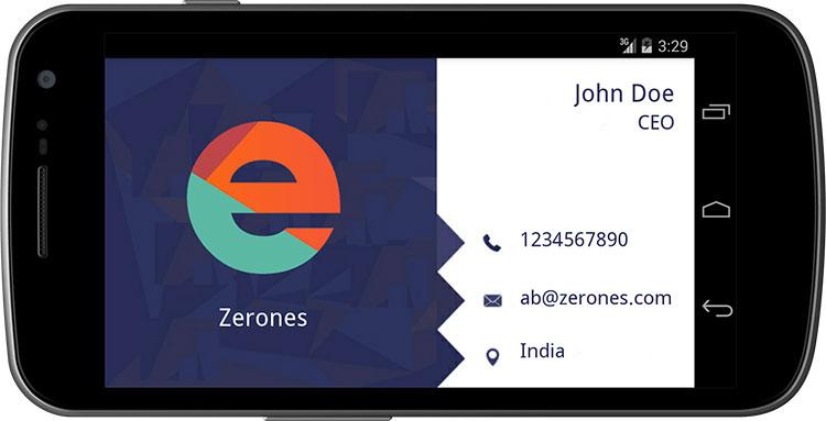 App per creare biglietti da visita su Android