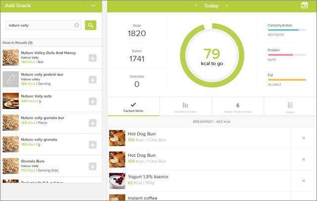 Le Migliori 5 App Conta Calorie per Android - Lifesum
