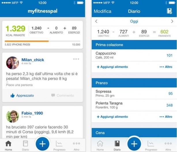 Le Migliori 5 App Conta Calorie per Android - MyFitnessPal