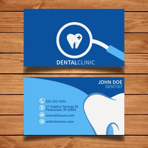25 Originalissimi Template per Biglietti da Visita da Scaricare Gratis – Blue Dental