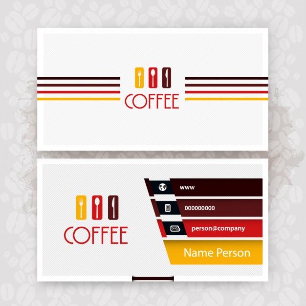 25 Originalissimi Template per Biglietti da Visita da Scaricare Gratis – Cafe Business