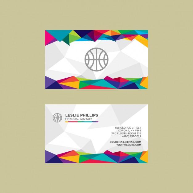 25 Originalissimi Template per Biglietti da Visita da Scaricare Gratis – Colorful Polygonal