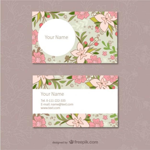 25 Originalissimi Template per Biglietti da Visita da Scaricare Gratis – Floral