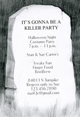 Biglietti di Invito per Feste di Halloween - A Grave