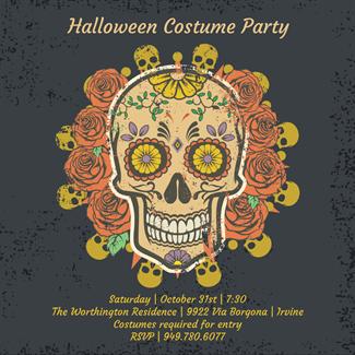 Biglietti di Invito per Feste di Halloween - Dressed to Kill