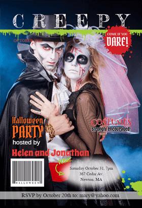 Biglietti di Invito per Feste di Halloween - Halloween Party Mag