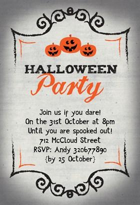 Biglietti di Invito per Feste di Halloween - Halloween Party