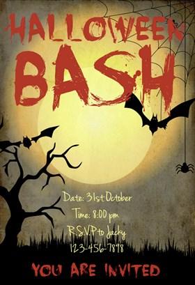 Biglietti di Invito per Feste di Halloween - Halloween Bash