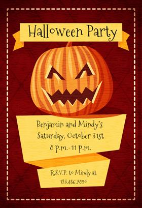 Biglietti di Invito per Feste di Halloween - Jam with Jack