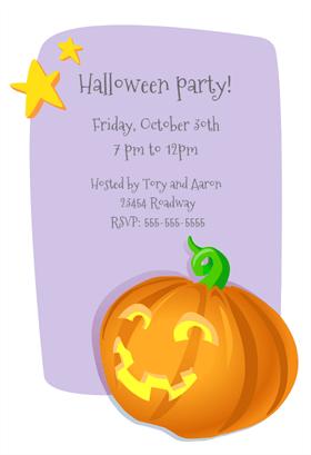 Biglietti di Invito per Feste di Halloween - Lighted Pumpkin