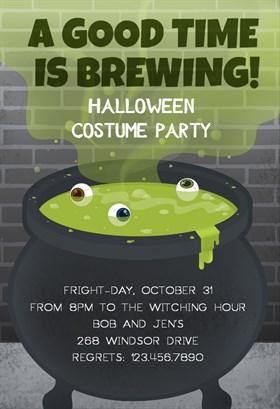 Biglietti di Invito per Feste di Halloween - Party Brewing