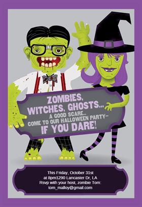 Biglietti di Invito per Feste di Halloween - Party with Us