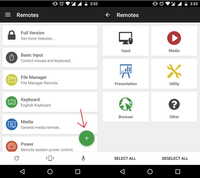 Come Controllare da Remoto il PC Windows da Android - Unified Remote Media Manager