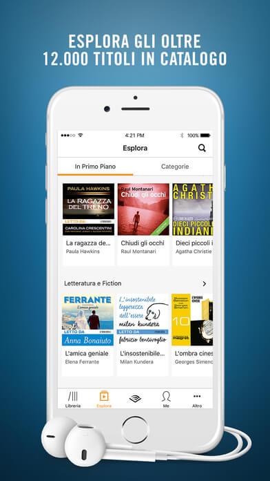 Le Migliori 3 App Gratis per Audiolibri su iPhone e iPad - Audiolibri Audible