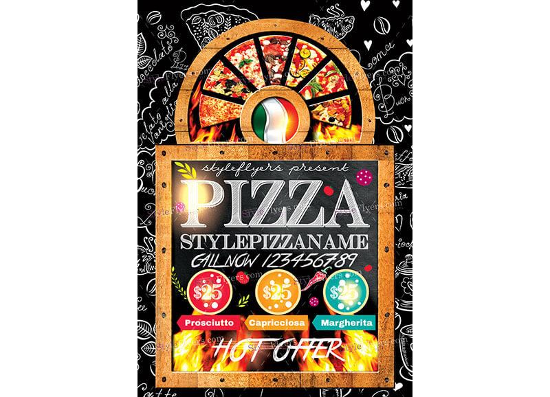 10 Modelli di Volantini Pubblicitari Gratis per Photoshop - Pizzeria
