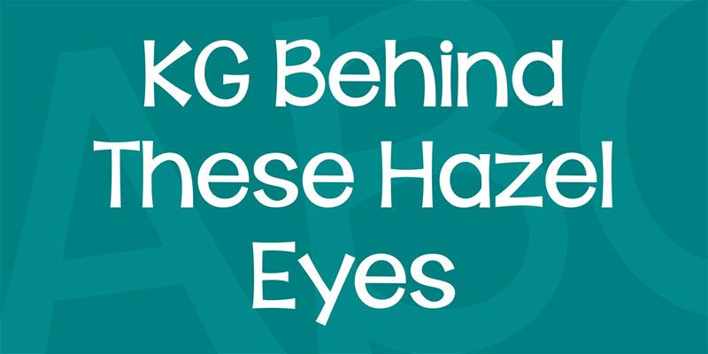 20 Font per Bambini da Scaricare Gratis - Hazel Eyes