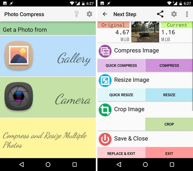 3 App per Ridurre le Dimensioni delle Foto su Android - Photo Compress 2.0