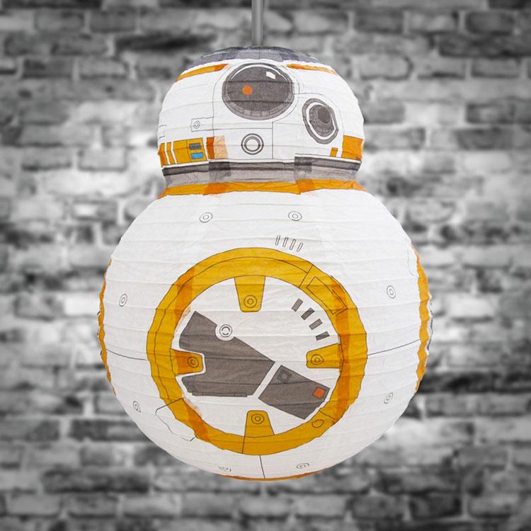Lampadario di carta BB-8
