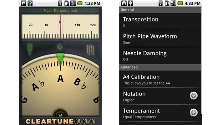 Le Migliori 10 App per Accordare la Chitarra per Android - Cleartune