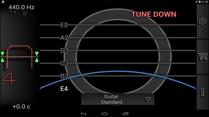Le Migliori 10 App per Accordare la Chitarra per Android - PitchLab Guitar Tuner