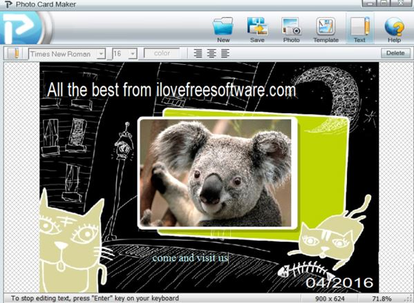 4 Software Gratis per Creare Biglietti di Auguri su Windows 10 - Kigo Photo Card Maker