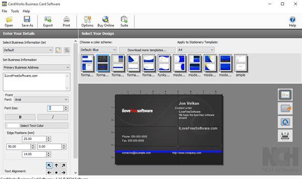 5 Programmi Gratis per Creare Biglietti da Visita su Windows 10 - CardWorks