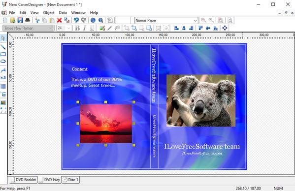 5 Programmi Gratis per Creare Copertine di DVD su Windows 10 - Nero Cover Designer