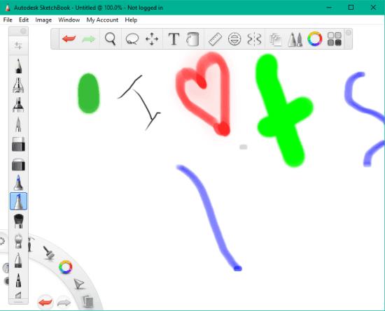 5 Programmi Gratis per Disegnare al PC per Windows 10 - Autodesk SketchBook
