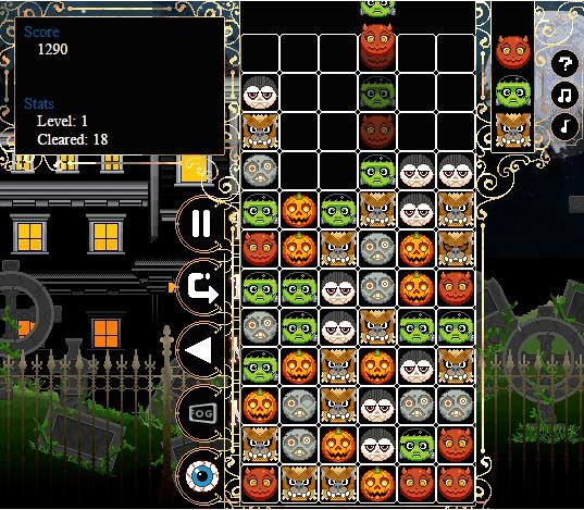 Tetris per Bambini 4 Giochi Online e Gratis - Creepy Columns