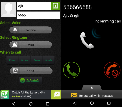 5 App per Chiamate Finte su Android - Fake Call by Fortune Techlab