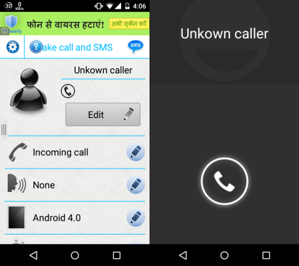 5 App per Chiamate Finte su Android - Fake Call by MDB Software