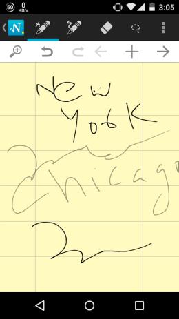 5 App per Scrivere Note a Mano Libera su Android - MyScript Smart Note