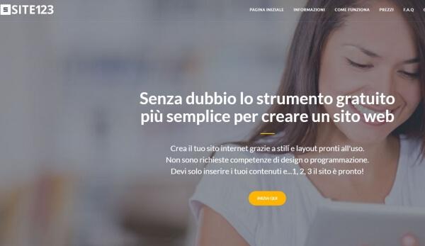 I Migliori 5 Servizi per Creare Siti Web Gratis - Site123.com