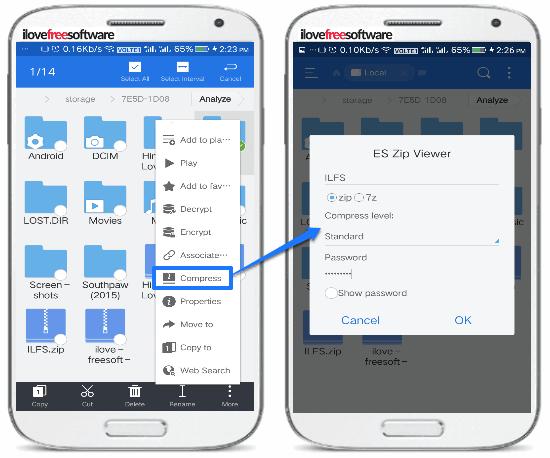 5 App per Comprimere File su Android - ES File