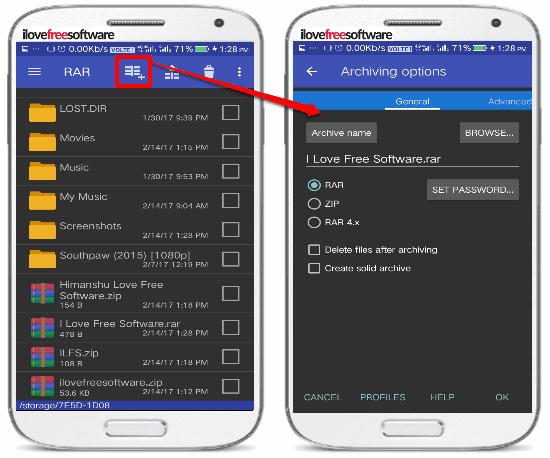 5 App per Comprimere File su Android - RAR