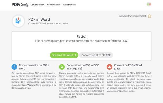 Come Modificare PDF Online - Convertire PDF con PDF Candy