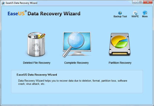 Programma per Recuperare File Cancellati o Formattati - Opzioni EaseUS Data Recovery