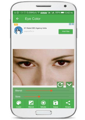 5 App per Eliminare gli Occhi Rossi dalle Foto con Android - Nice Eyes Color Changer