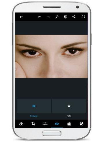 5 App per Eliminare gli Occhi Rossi dalle Foto con Android - Photoshop Express