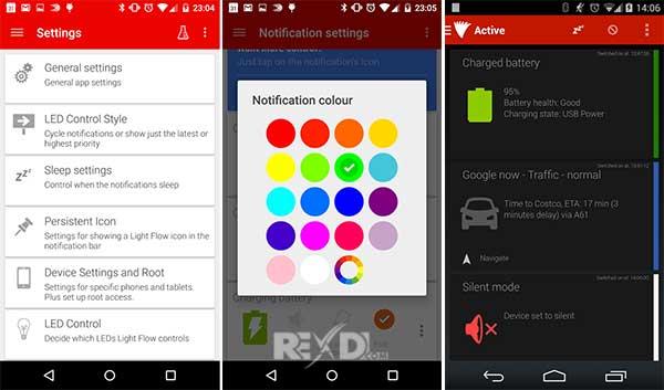 5 App per Personalizzare il LED di Notifica su Android - Light Flow