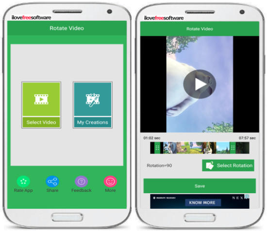 5 App per Ruotare Video su Android - Rotate Video