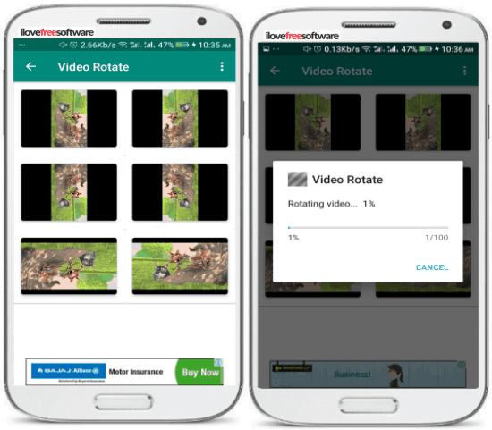 5 App per Ruotare Video su Android - Video Rotate Tool