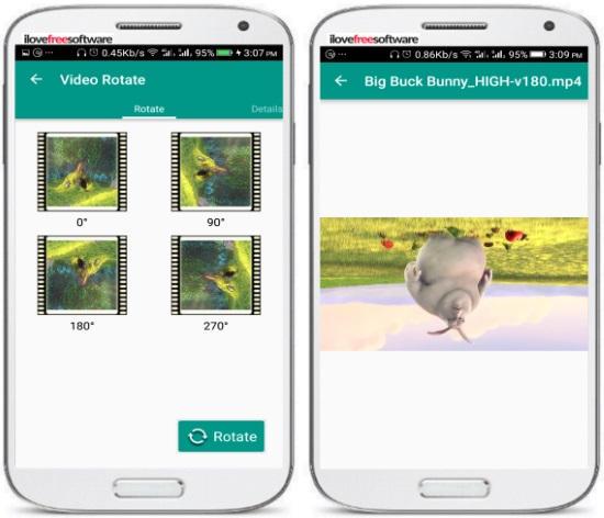 5 App per Ruotare Video su Android - Video Rotate by Bratbull